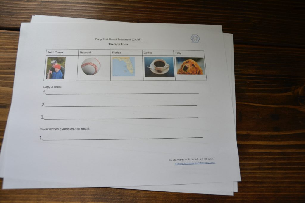 Sample CART Therapy Form: Customizable
