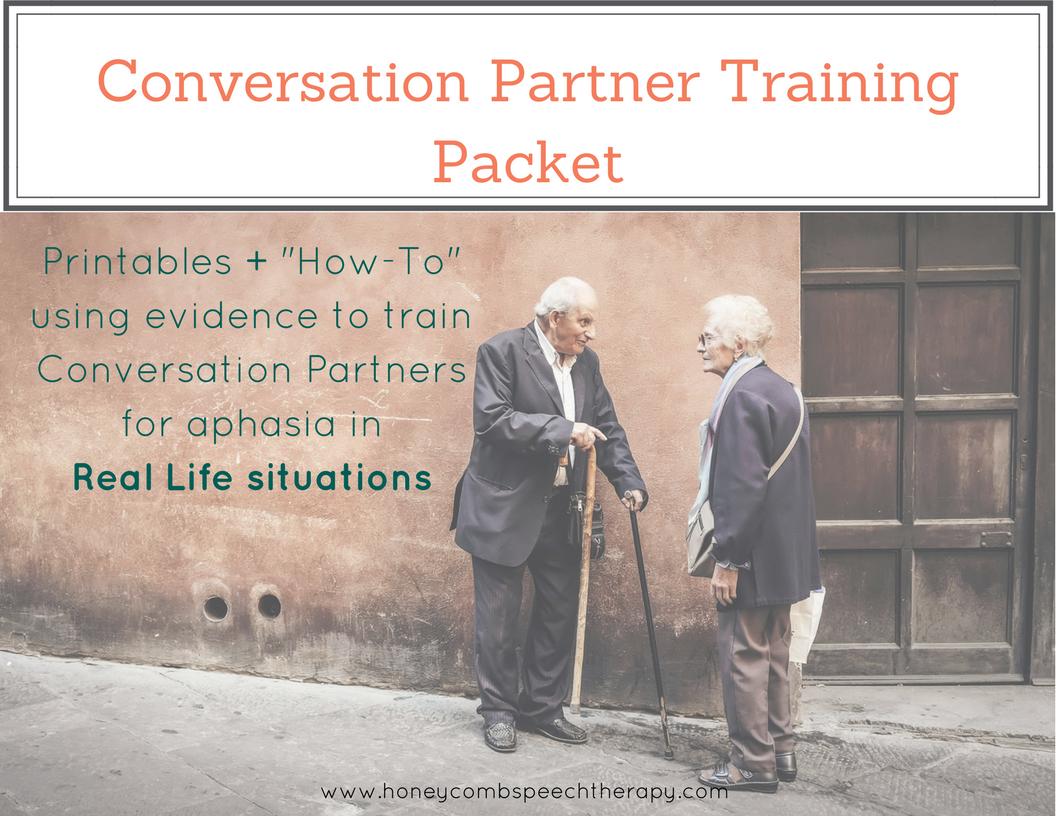 Conversation Partner Training Packet
