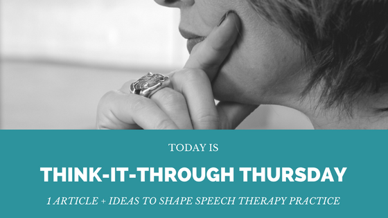 Think it Through Thursday: TBI Treatment Guidelines