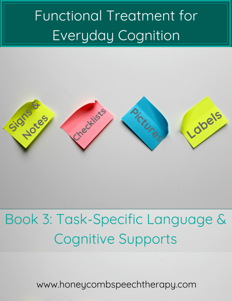 Functional Cognition: Book 3 – Task-Specific Language & Cognitive Supports